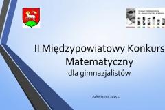 II Międzypowiatowy Konkurs Matematyczny prezentacja - fina_ł-01